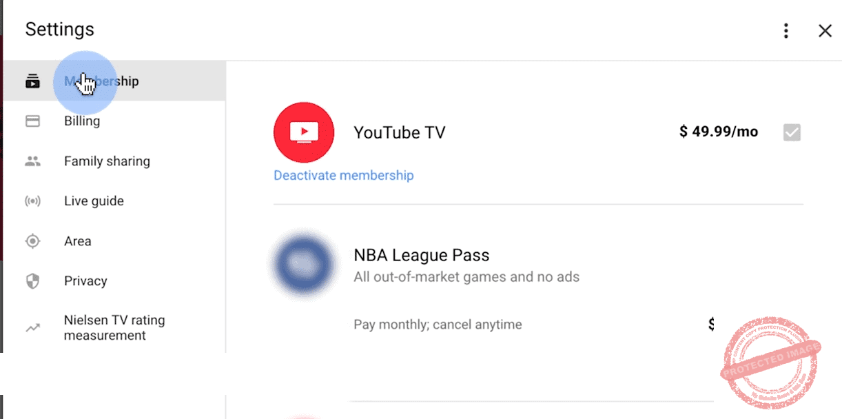 youtube tv membership