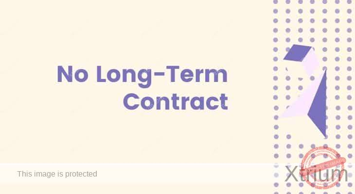 no long term contract