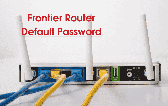 frontier router default password