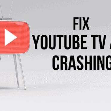youtube tv app crashing
