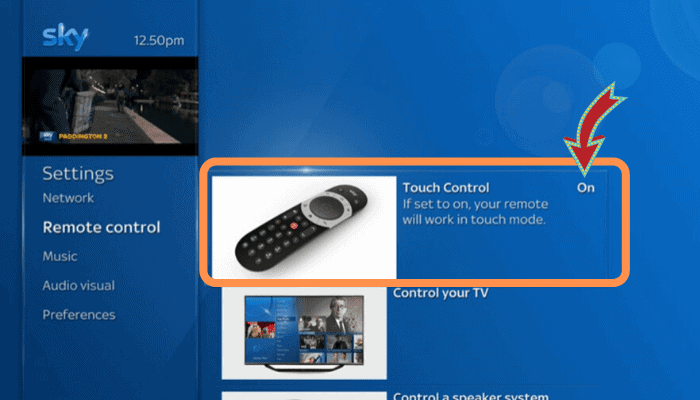 sky q remote touchpad issue