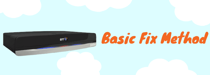 bt youview box basic troubleshooting