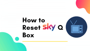 how to reset sky q box