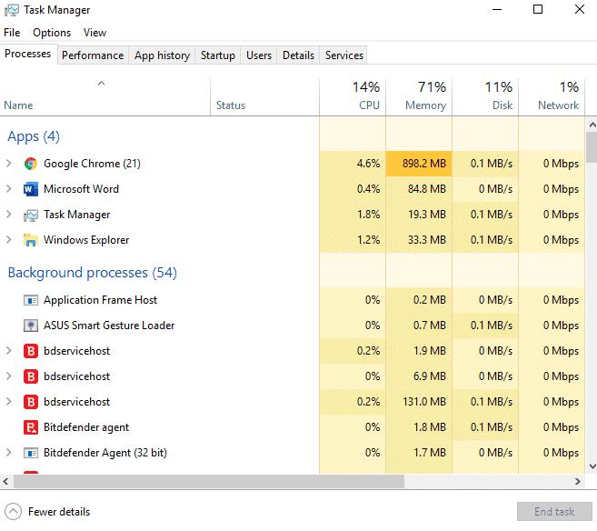 ending process windows