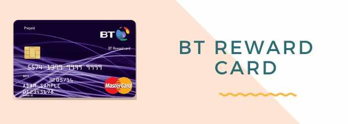 what is bt reward card