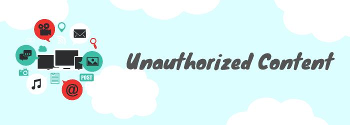 unauthorized media content