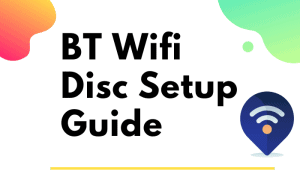 bt wifi disc setup