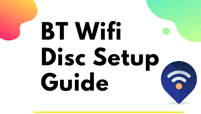 bt wifi disc setup