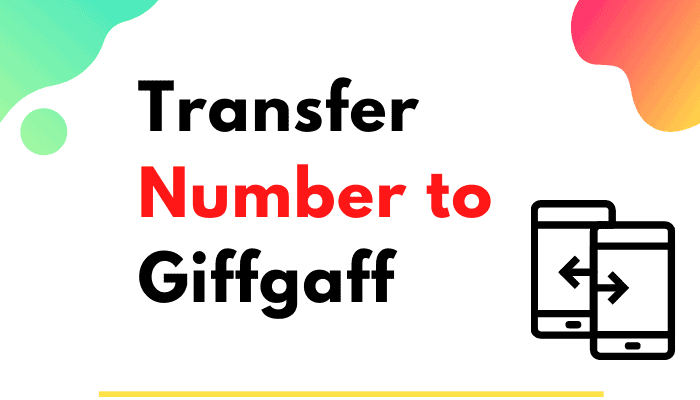 transfer number to Giffgaff