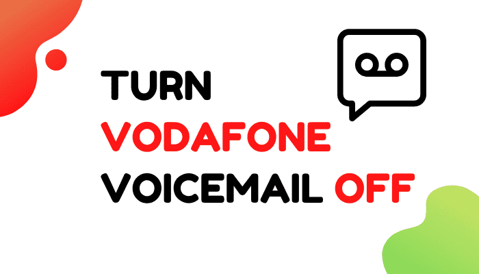 vodafone voicemail off