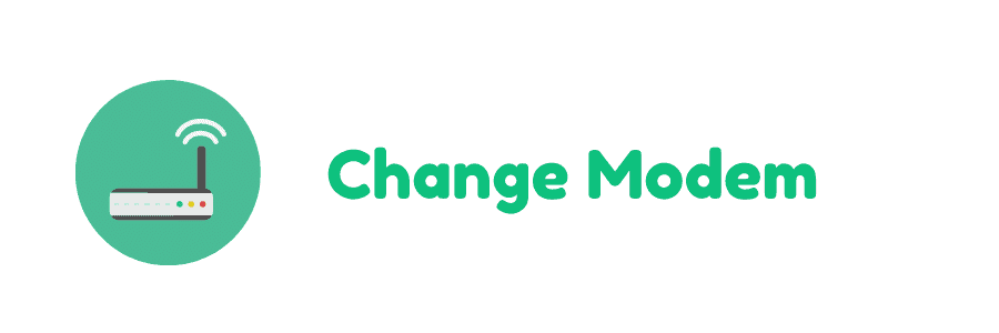 modem change