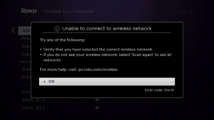 unable to use wifi network