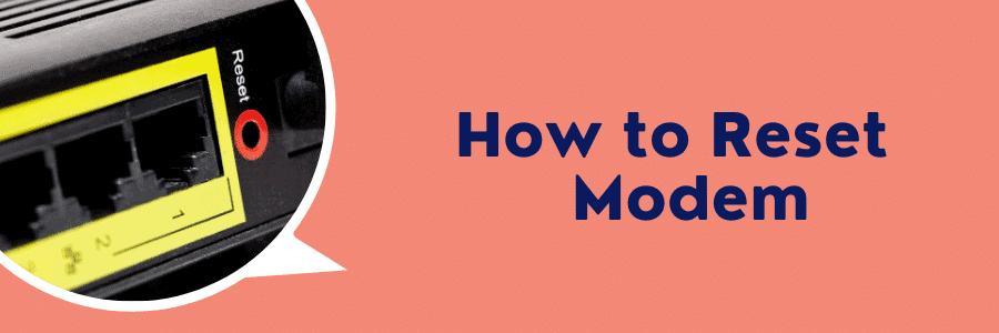 how to reset centurylink modem