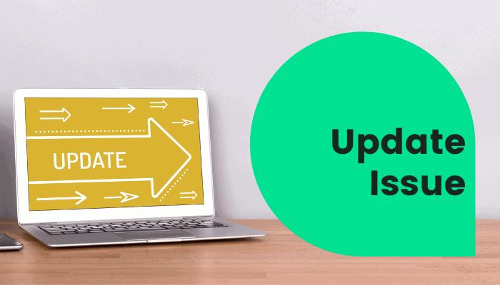update issue plusnet