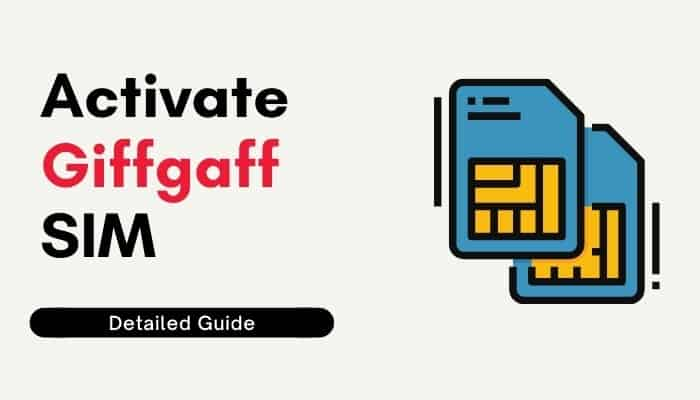 how to activate giffgaff sim