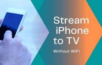 stream from iphone to tv without wifi