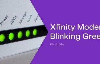 xfinity modem blinking green